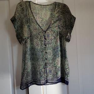 Vintage Silk Sheer Blouse